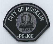 California City Of Rocklin 1893 Police Patch (Subdued black & grey) (CA)
