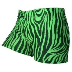 Gemgear Green Zebra Volleyball Spandex Shorts $22.99
