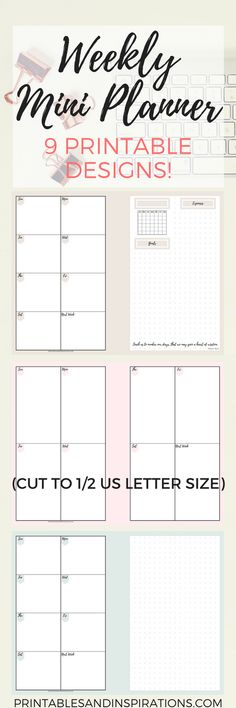 Free Weekly Mini Planner