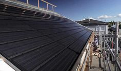 Several solar roofing options discussed on this page. Some not available yet.