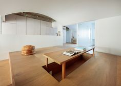 Masatoshi Hirai reconfigures Tokyo flat to create a wholly shared family living space.
