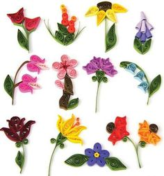 Mini Flower Gift Tags Quilling Kit 438