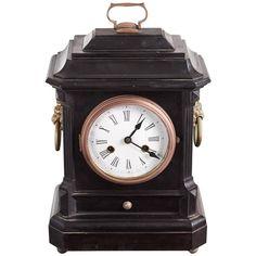 Ebonized Mantel Clock 1