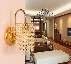 Modern breve cristal lâmpada de parede levou lâmpada de cabeceira luzes de parede varanda lâmpada(China (Mainland))