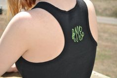 Monogram RazorBack Tank Made to order by DreamThread on Etsy, $12.00