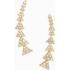 Stella & Dot Pavé Triangle Path Ear Climber (£31) ❤ liked on Polyvore featuring jewelry, earrings, earring jewelry, ear climber earrings, stella dot jewelry, pave earrings and sparkle jewelry