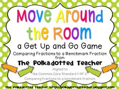 This a game to get students up and moving while learning/practicing using benchmark fractions to compare fractions. Use this game as an activating strategy, instructional lesson, or practicef comparing fractions. Teaching Fractions, Math Fractions, Co Teaching, Student Teaching, Teaching Ideas, Math Lesson Plans, Math Lessons, Third Grade Math, Fourth Grade