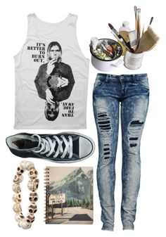 """There's only one life, stay outta mine"" by justpleasegoaway ❤ liked on Polyvore featuring Converse, Mason's, women's clothing, women's fashion, women, female, woman, misses and juniors"