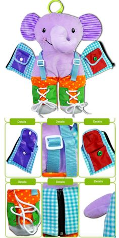 Features: .Hanging toys have hidden features in them to help promote the sense through sight, touch and sound. .Help children develop some dressing skills. .Easily attaches to prams, pushchairs and carseats. .Interesting and cute toys,which can bring children funny in playing with them. Baby Learning, Learning Toys, Activity Toys, Activities, Puzzle Toys, Cute Toys, Prams, Early Education, Educational Toys