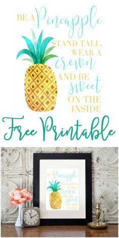 Be a Pineapple {Free Printable}