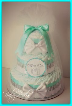 Tiffany and Co. Inspired Diaper cake Baby and Co by MsPerks, $79.99