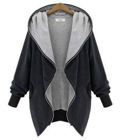 Black BetterMore Women's Fashion Winter Warm Plus Size Loose Hoodie Cardigan Blazer Parka Zip Jacket Outerwear Cardigan Blazer, Hooded Cardigan, Cardigan Sweaters, Long Cardigan, Blazer Jacket, Long Hooded Coat, Hooded Coats, Hooded Parka, Women's Coats