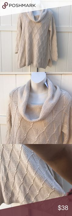 NWT Jeanne pierre gorgeous Cowl Neck sweater sz M NWT Jeanne pierre gorgeous Cowl Neck sweater sz M jeanne pierre Sweaters Cowl & Turtlenecks