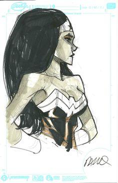 Humberto Ramos - Wonder Woman Comic Art