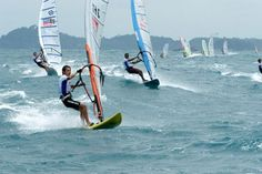 Wind surfing activities in Bintan Resort beach. by: Petrus M. Sitohang
