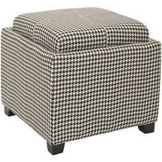 Safavieh Broadway Single Tray Hounds Tooth Storage Ottoman | Overstock.com Shopping - The Best Deals on Ottomans