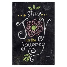Toland Home Garden Joy in the Journey Chalkboard Double Sided Flag - 119796