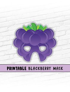 School / Church play coming up and need cheap and easy props? This listing is for a BLACKBERRY Printable Mask Fruit Costumes, Easy Costumes, Printable Masks, Party Printables, Halloween Masks, Halloween Kids, Last Minute Costumes, Paper Mask, School Play