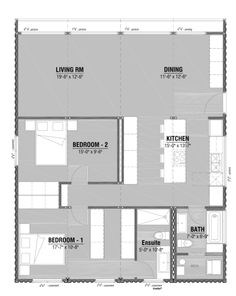 These modern modular homes and accompanying floor plans showcase the layouts, variations, and opportunities that prefab builds present. Building A Container Home, Container Cabin, Container House Plans, Container House Design, Modern Prefab Homes, Modular Homes, Prefab Houses, Modular Home Floor Plans, House Floor Plans
