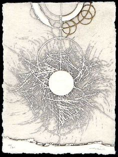 Walter Valentini - In the circle surrounding the sun, 2001, etching
