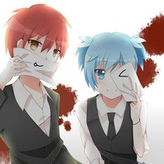 Cuties~ They should have made Nagisa a girl so my ship can actually sail. - DA | Karma Akabane | Nagisa Shiota | Carnage Pair | Kar(u)Gisa | Kar(u)Nagi | Assassination Classroom