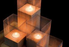 Gitter-Kerzen für gemütliche Stunden zu Hause.