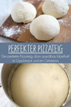Der perfekte Pizzateig d nn ausrollbar knusprig und super lecker pizza teig beste dough best Pizza Sans Gluten, Gluten Free Pizza, Gluten Free Snacks, Wheat Pizza Dough, Whole Wheat Pizza, Gluten Free Biscuits, Gluten Free Soup, Perfect Pizza, Good Pizza