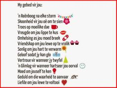 Afrikaanse Inspirerende Gedagtes & Wyshede: My gebed vir jou: Mooie taal Afrikaans Morning Prayers, Good Morning Wishes, Strong Quotes, Positive Quotes, Bible Emergency Numbers, Best Quotes, Life Quotes, Afrikaanse Quotes, Special Words