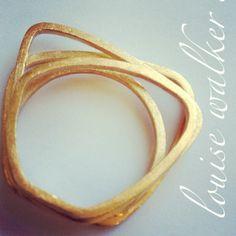 Contour Vermeil Triple Ring