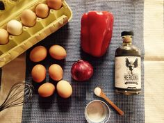 Ingredientes para una tortilla de patatas very Spanish