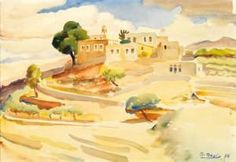 View of my Village - Omar Onsi His Travel, Fine Art Photography, Impressionist, Printmaking, Drawings, Artist, Prints, 21st, Painting