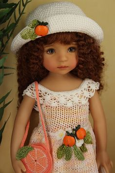 "Handmade Outfit ""Orange"" FOR 13"" Effner LD Dolls Ooak 