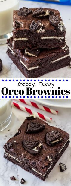 These insanely delicious Oreo brownies are extra fudgy, stuffed with Oreo cookies, and topped with even more Oreos. Made from scratch and oh so easy!