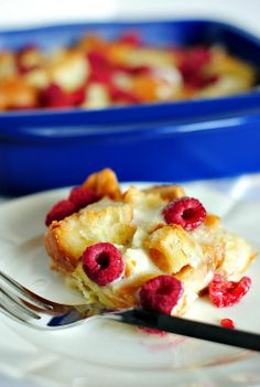 Baked Raspberry French Toast|