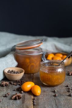 Russian kumquat jam is an enchanting mix of Eastern and Western flavours that, to me, tastes remarkably like the natural mashing of influences of the Soviet Union of my childhood. Chutney Recipes, Jam Recipes, Fruit Recipes, Asian Recipes, Gourmet Recipes, Dessert Recipes, Healthy Recipes, Desserts, Jelly Recipes