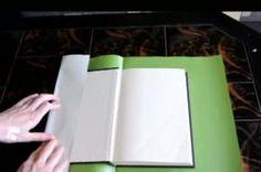 Anleitung - Bücher in Papier einbinden