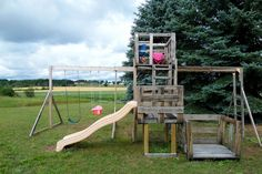 Upcycled Wood Shipping Crate Playscape