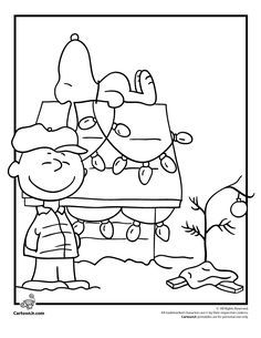 A Charlie Brown Christmas Coloring Pages Page With Snoopy