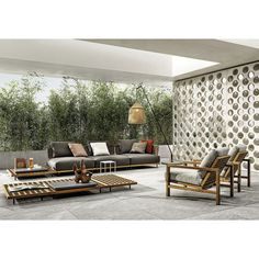 Canapé Minotti QUADRADO Outdoor Spaces, Outdoor Living, Outdoor Decor, Outdoor Daybed, Sofa Design, Furniture Design, Studio Mk27, Modular Sofa, Sectional Sofas