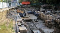 The excavation site of the Western Propilaea of the Ancient Forum of Philipopolis / Trimontium in Bulgaria's Plovdiv. Photo: CityBuild