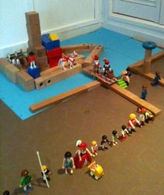 Intocht Sinterklaas in de bouwhoek