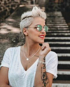 50 Best Pixie And Bob Cut Hairstyle Ideas 2019 - short-hairstyles - Bob Pixie Cut, Short Pixie, Bob Cut, Popular Short Hairstyles, Trending Hairstyles, Short Hairstyles For Women, Bob Haircuts For Women, Short Hair Cuts For Women, Short Haircuts