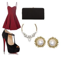 """red look"" by anabul on Polyvore featuring Glamorous, Christian Louboutin, Urban Expressions and Kendra Scott"