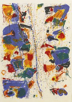 'The White Line' (1960) by Sam Francis
