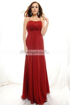 Amazing A-line empire waist chiffon dress for bridesmaid, navy