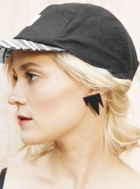 R/H for FLOW - Mountain Earrings Black Flow, Baseball Hats, Grey, Mini, Earrings, Mountain, Collection, Black, Jewelry