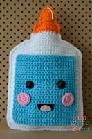"""*** This listing is for our School Glue Kawaii Cuddler™ PATTERN only ***This is an easy/beginner level crochet pattern. The techniques you will need to know are single crochet, single crochet increase, single crochet decrease, chain stitch, and slip stitch. Our finished School Glue Kawaii Cuddler™ is 8″ x 12"""". Hook siz"""