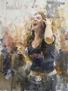 "Tifosa (A Fan) by James Crandall Oil ~ 16"" x 12"""