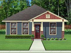 Elevation of Cottage   Craftsman   House Plan 79334