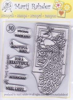 Clear Stamp Mary Rahder -30 - Clear Stamps Mary Rahder - Stempel Techniek Hobbyshop Nellie Snellen